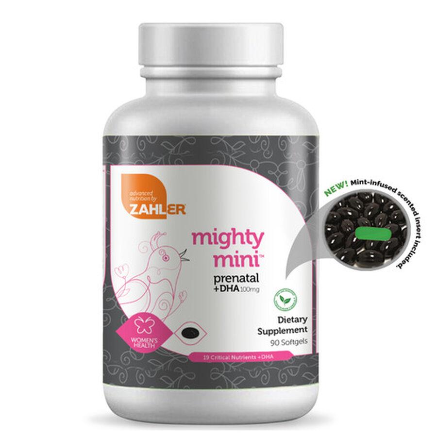 Zahler Mighty Mini Prenatal DHA 100mg Vitamins, 90 softgels, , large image number 6
