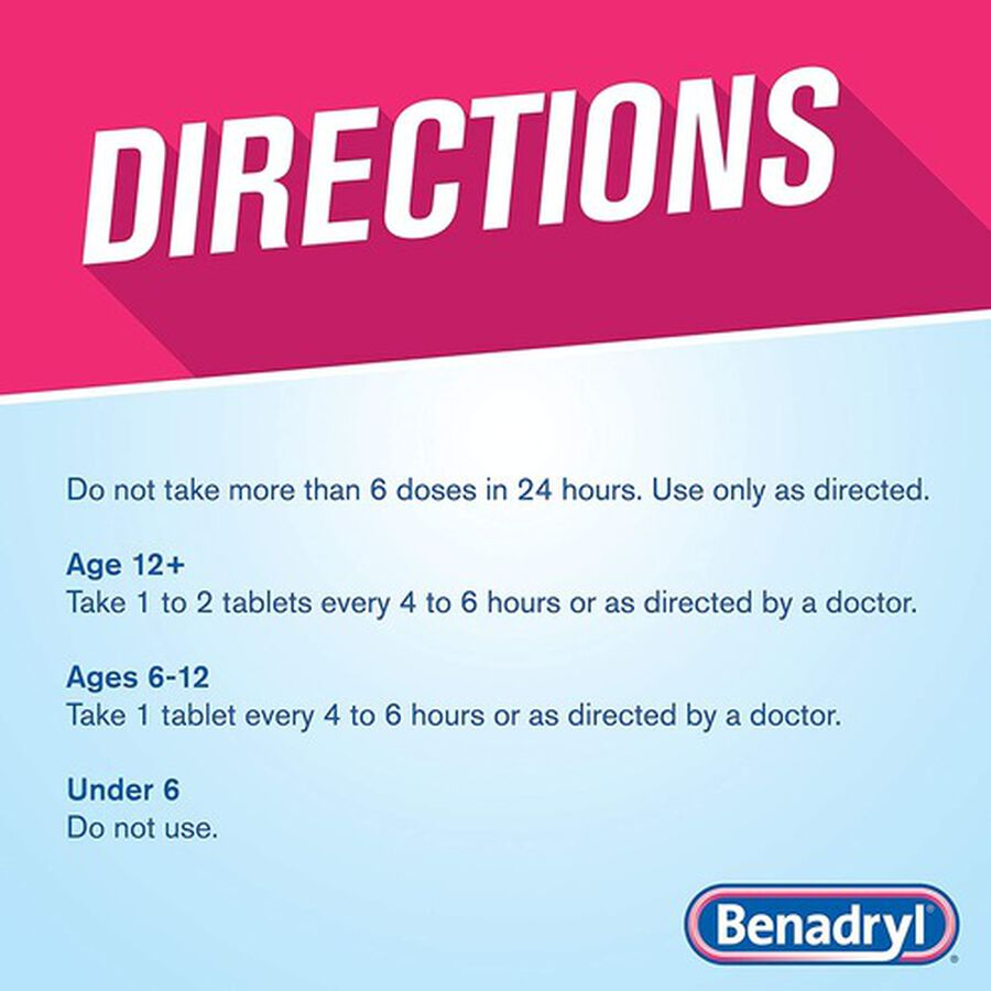 Benadryl Ultra Allergy Relief Tablets, 48 ct, , large image number 3