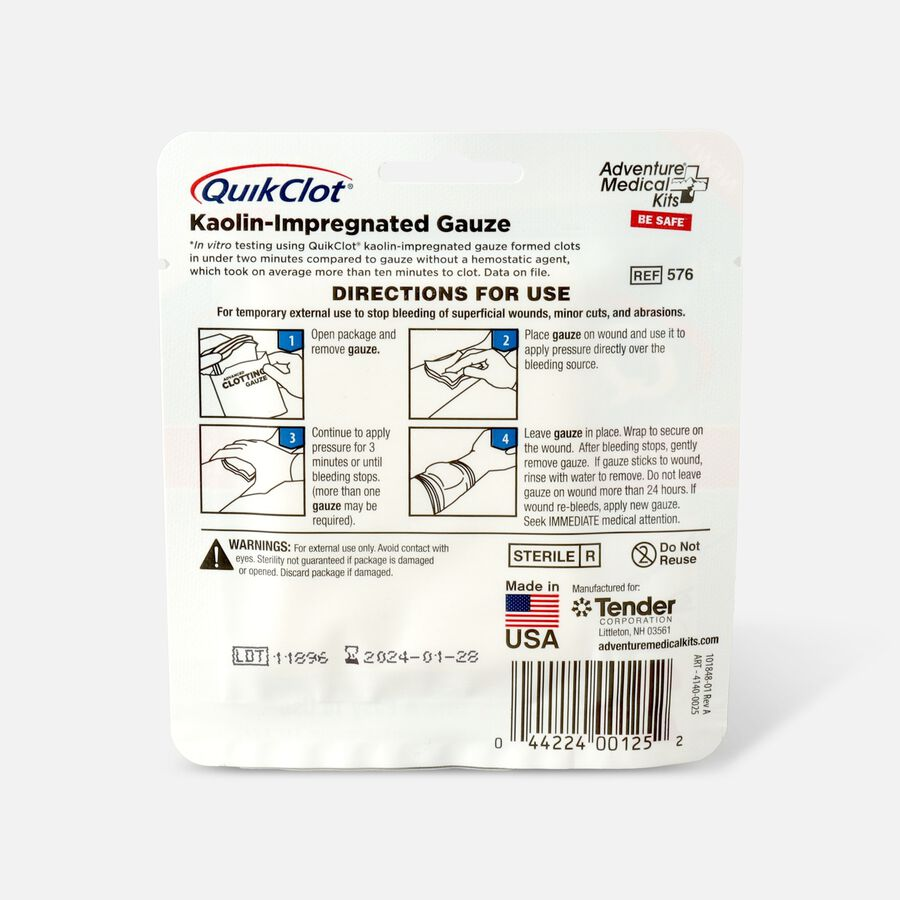 """QuikClot Gauze 3"""" x 2', , large image number 1"""
