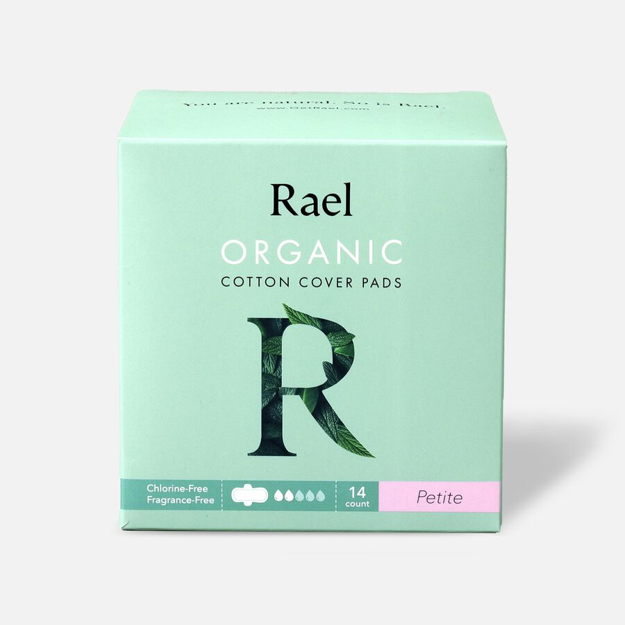 Rael Organic Cotton Ultra-Thin Pads, Petite Size, Light Absorbency, 14ct, , large image number 0