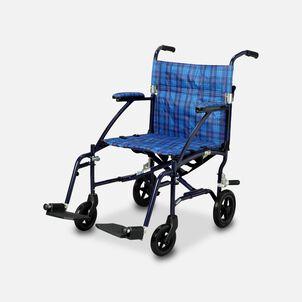 """Drive Fly-Lite Ultra Lightweight Aluminum Transport Chair, 19"""", Blue"""