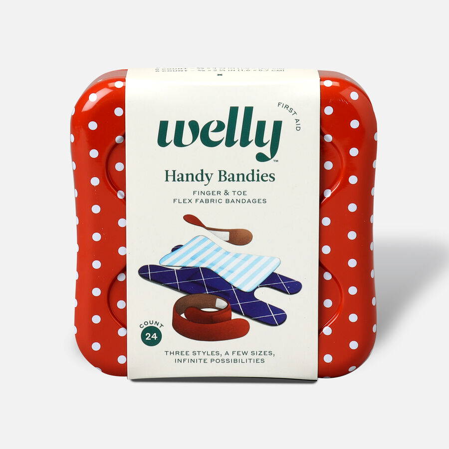 Welly Handy Bandies Assorted Toe & Finger Flex Fabric Bandages - 24ct, , large image number 0