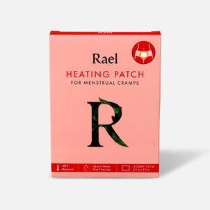 Rael Heating Patch for Menstrual Cramps, 3ct