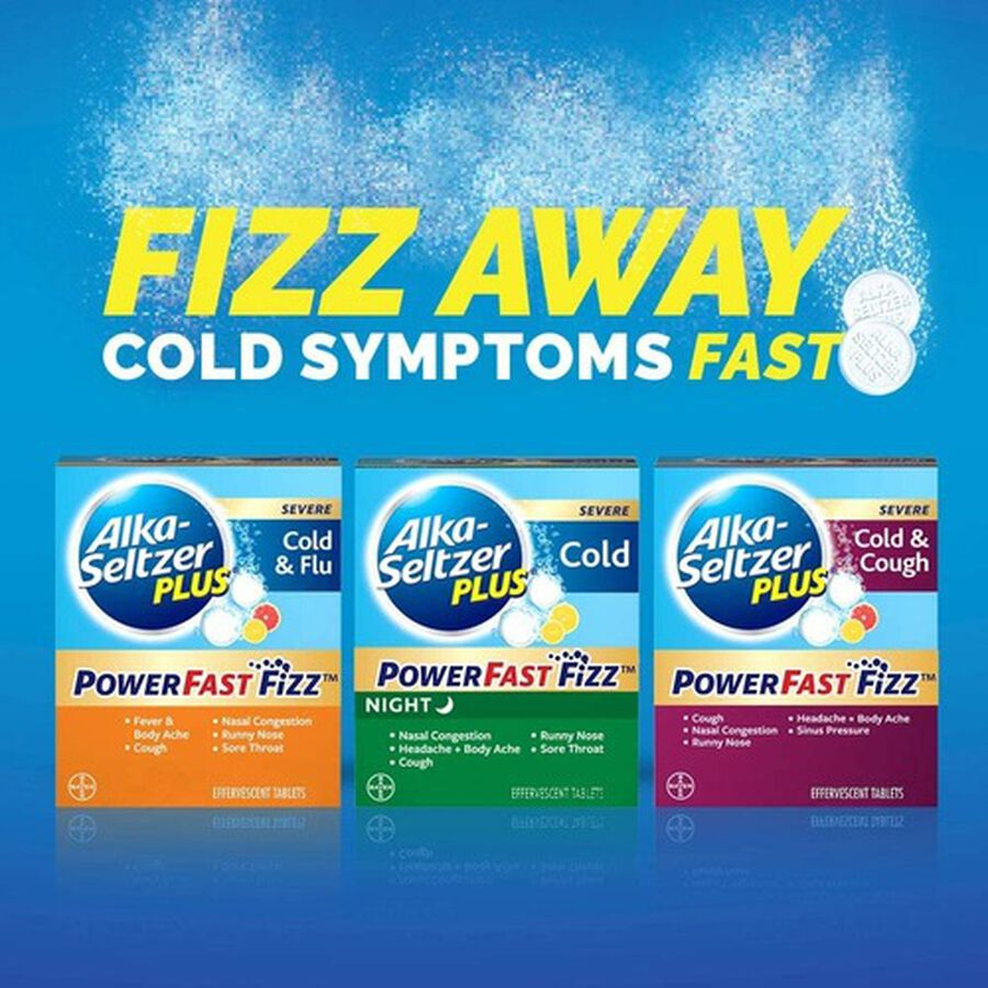 Alka-Seltzer Plus Cold & Cough PowerFast Fizz Effervescent Tablets, 20ct, , large image number 4