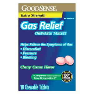 GoodSense® Gas Relief XS Simethicone 125 MG Chew Tab Cherry Crème, 18 ct