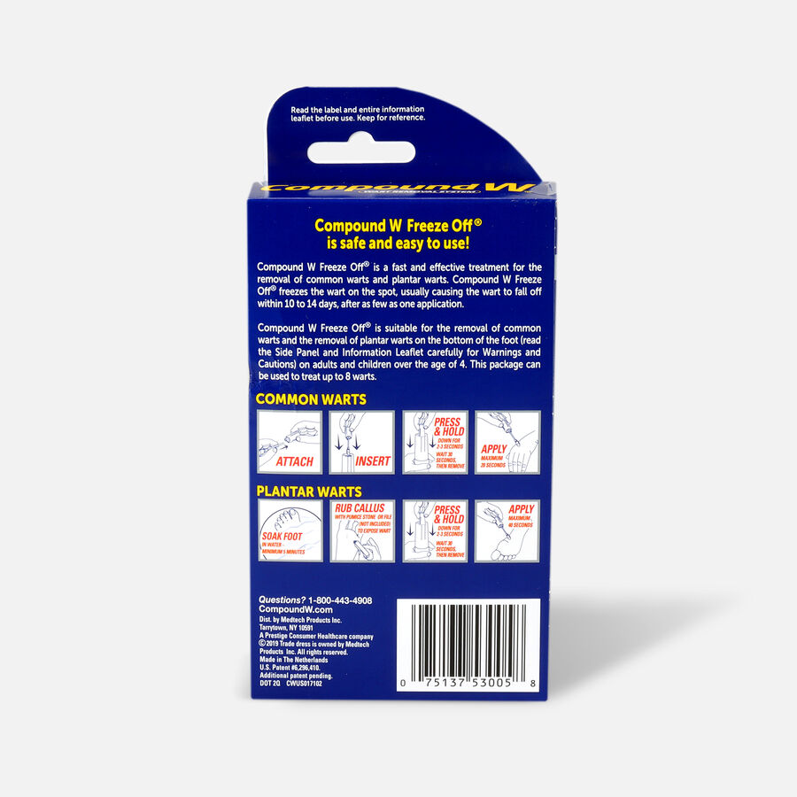 Compound W Freeze Off Wart Removal, 8 ea, , large image number 1