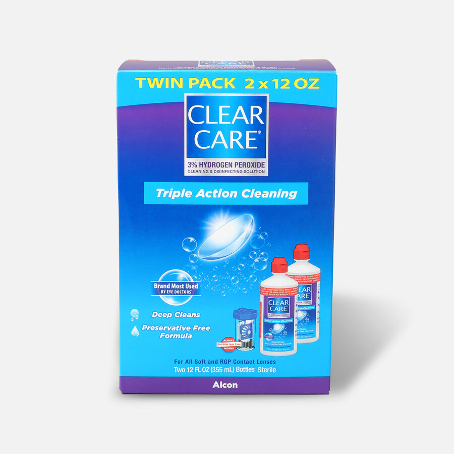 Clear Care No Rub Cleaning & Disinfecting Solution Value Pack, 24 fl oz, , large image number 0