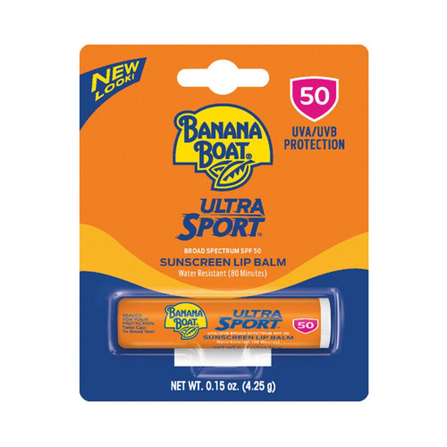 Banana Boat Ultra Sport Sunscreen Lip Balm SPF 50, 0.15oz, , large image number 0