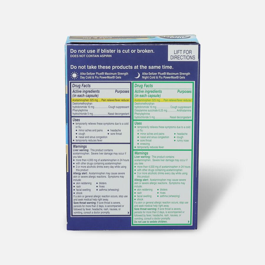 Alka-Seltzer Plus PowerMax Gels, Cold & Flu, Day & Night, 24ct, , large image number 1