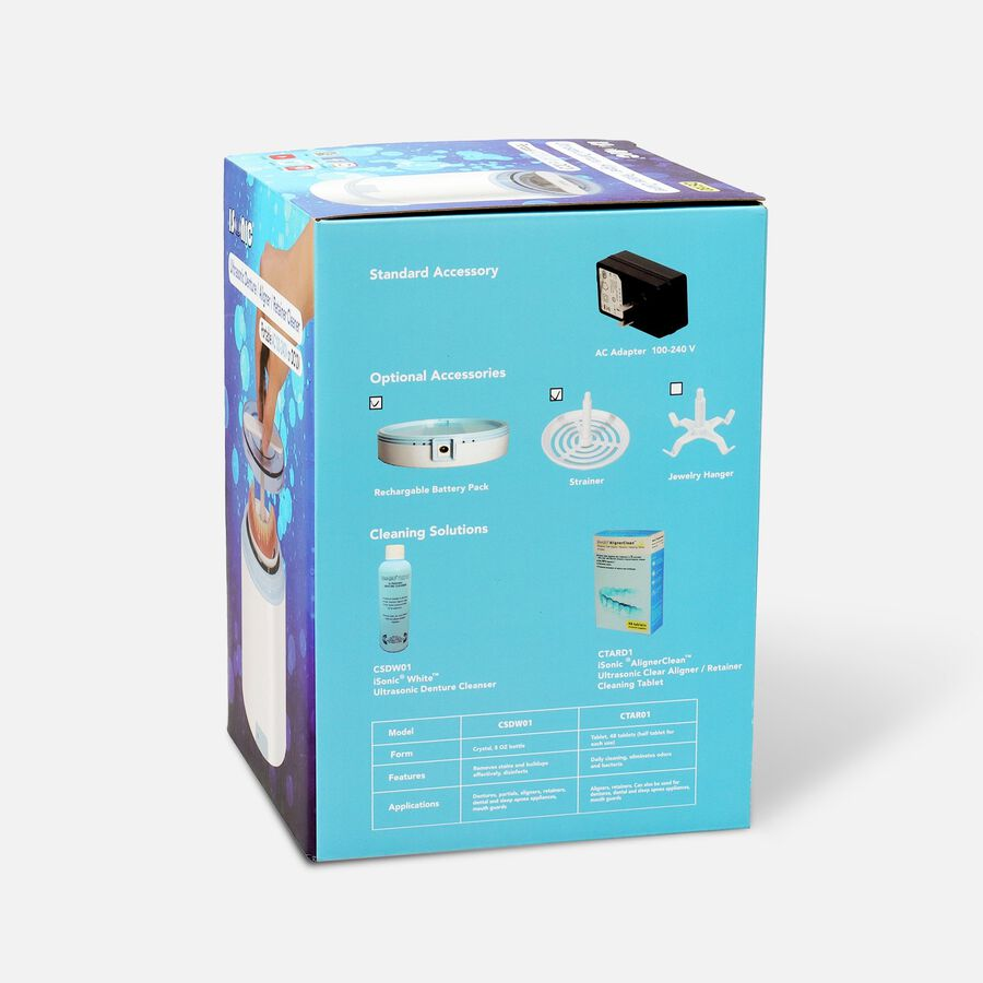 iSonic Ultrasonic Portable Denture & Retainer Cleaner with Rechargeable Battery DS180, , large image number 2