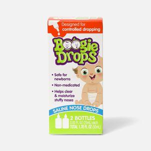 Boogie Drops Saline Nose Drops Twin Pack - 1.7 fl oz