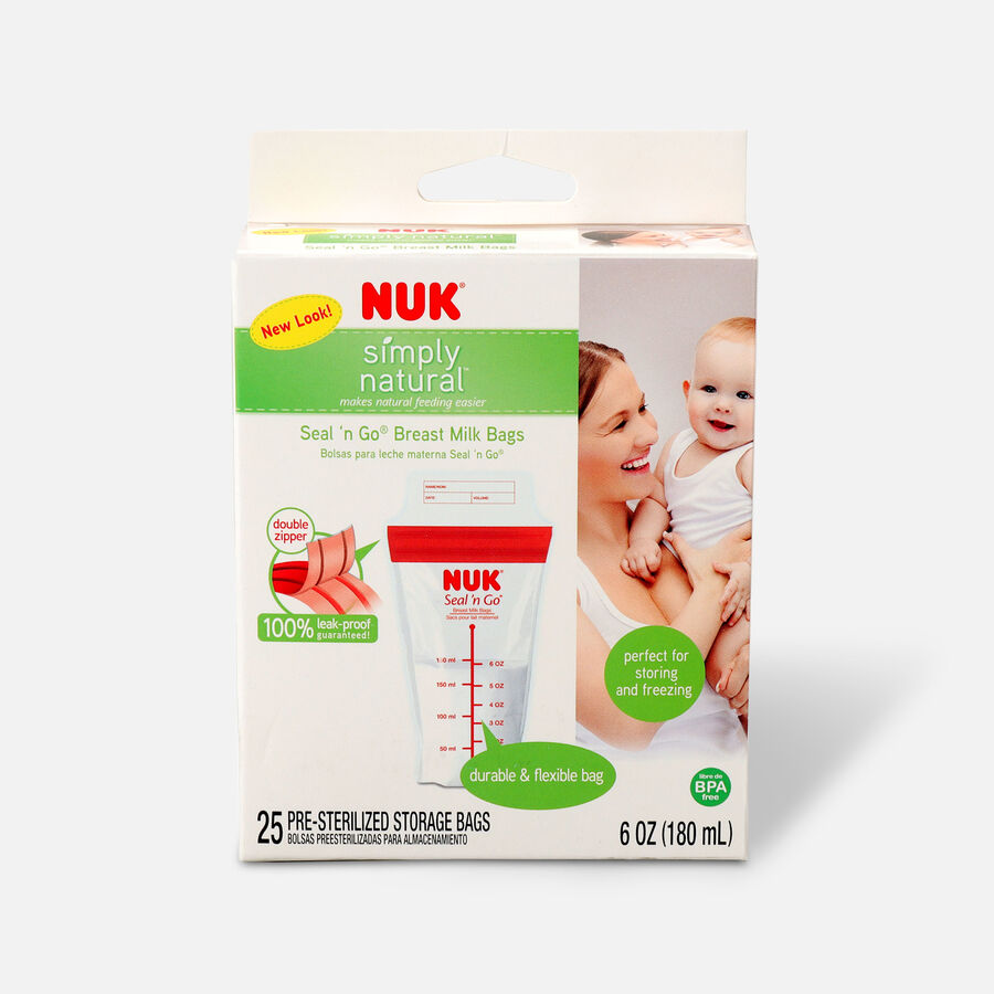 NUK® Seal 'N Go® Breast Milk Storage Bags, 25 ea, , large image number 0