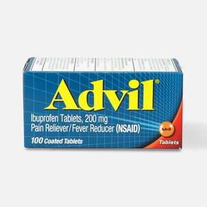 Advil Pain Reliever/Fever Reducer Ibuprofen Tablets, 200mg - 100 ct