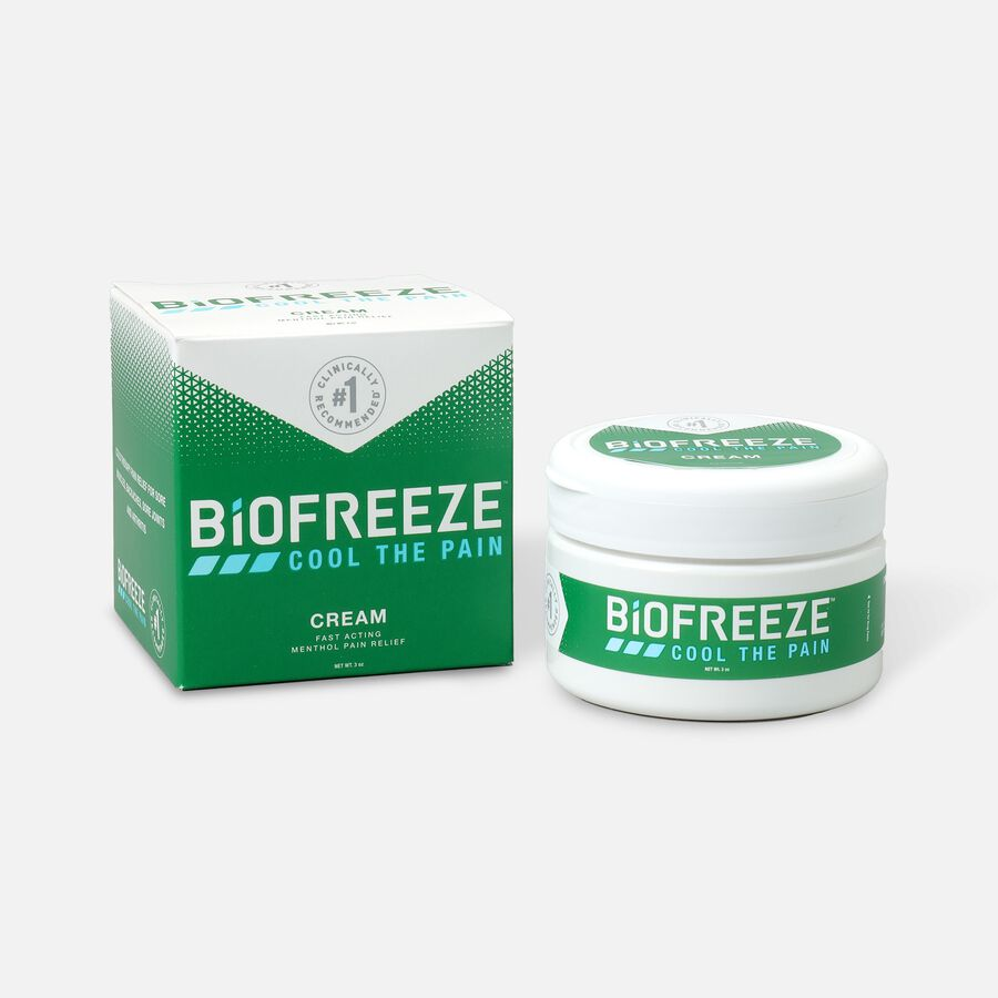 Biofreeze® Pain Relief Cream, 3oz Jar, , large image number 0