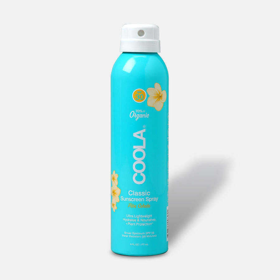 Coola Classic Body Organic Sunscreen Spray SPF 30, Pina Colada, 6oz, , large image number 0