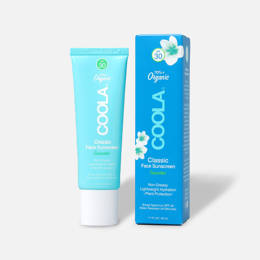 Coola Classic Face Organic Sunscreen Lotion SPF 30 Cucumber, 1.7oz, , large image number 0