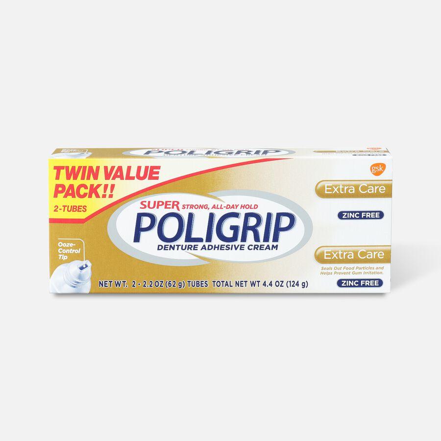 Super Poligrip Extra Care Zinc Free Denture Adhesive Cream - Twin Pack, , large image number 0