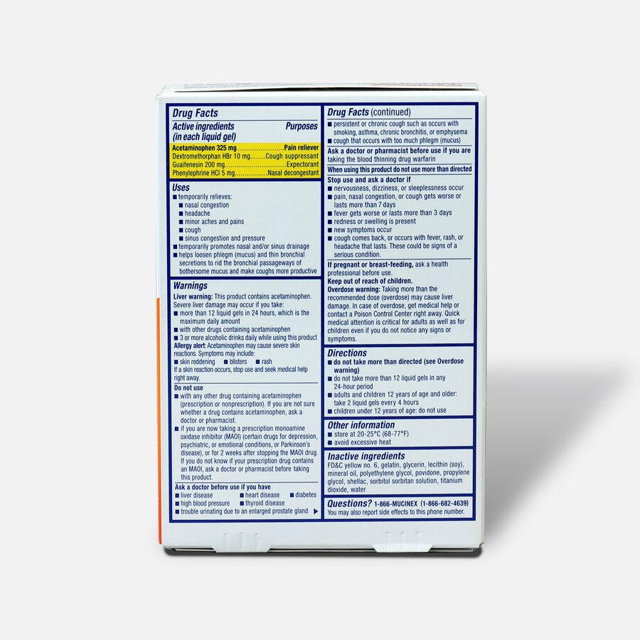 Mucinex Sinus-Max Liquid Gels Pressure, Pain and Cough, 16 ct, , large image number 1