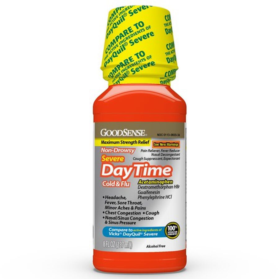 GoodSense® Daytime Cold & Flu Non Drowsy Severe 8 oz, , large image number 0