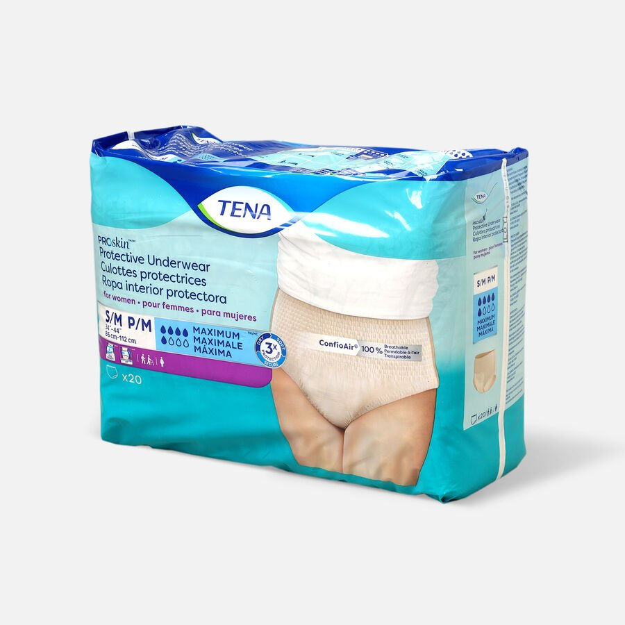 TENA ProSkin™ Protective Incontinence Underwear for Women, Maximum Absorbency,  Small/Medium, 20 Count, , large image number 2