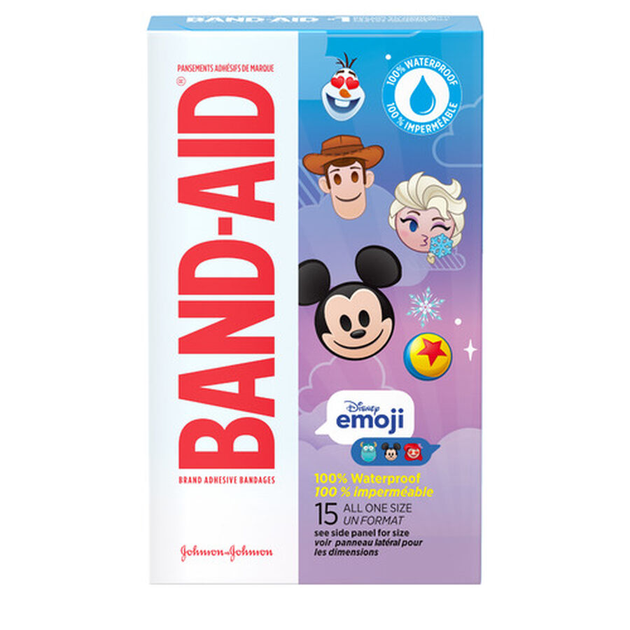 Band-Aid Disney Emoji Waterproof Bandages - 15ct, , large image number 0