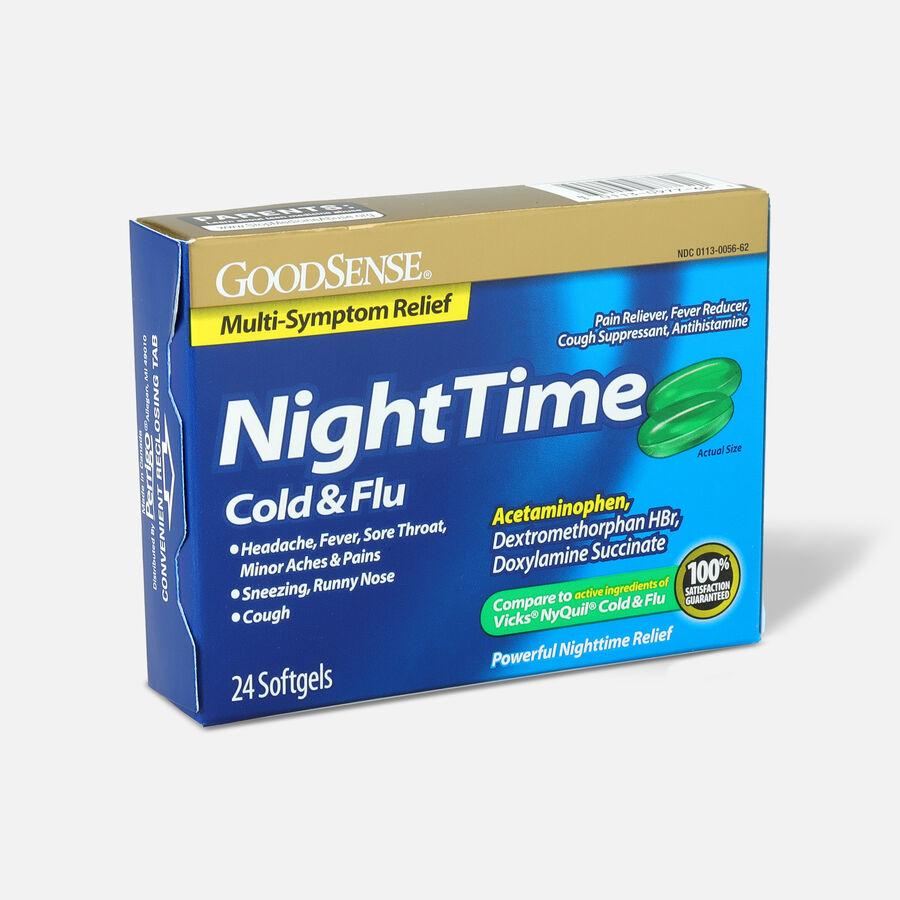 GoodSense® NightTime Cold & Flu Multi Symptom Softgels, 24 ct, , large image number 2