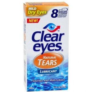 Clear Eyes Natural Tears, .5 oz