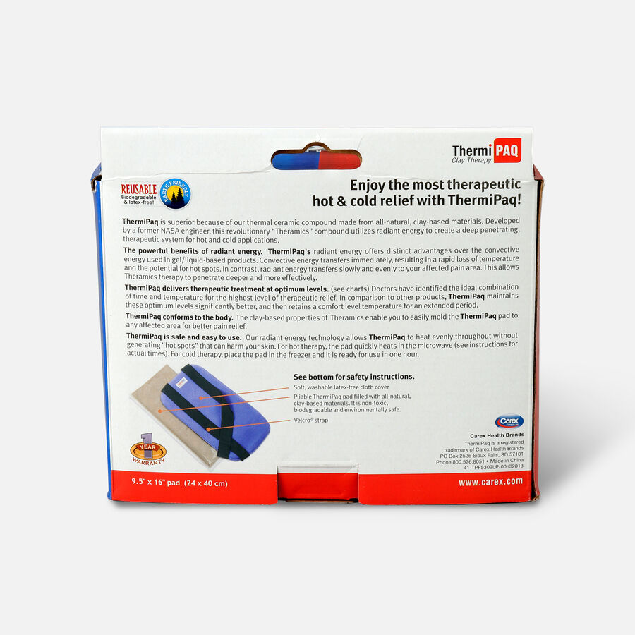 """ThermiPaq Therapeutic Hot & Cold Pad, 9.5"""" x 16"""" (24 x 40 cm) XLarge, 1 ea, , large image number 1"""