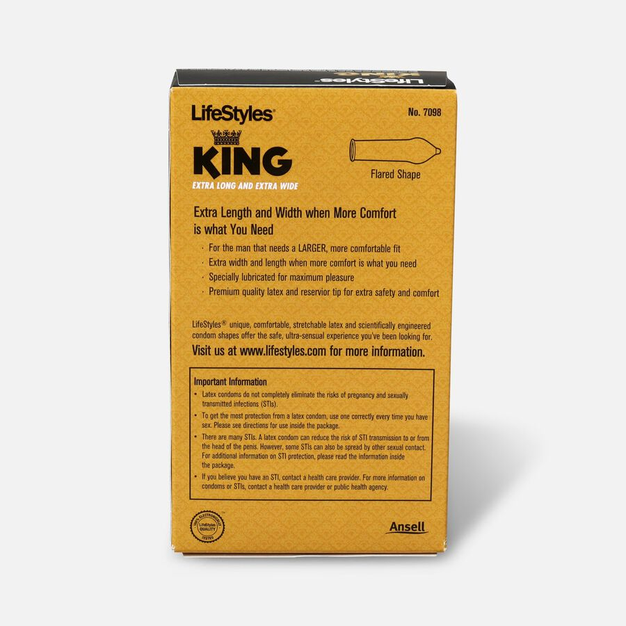 LifeStyles Latex King Condoms, 12 Count, , large image number 1