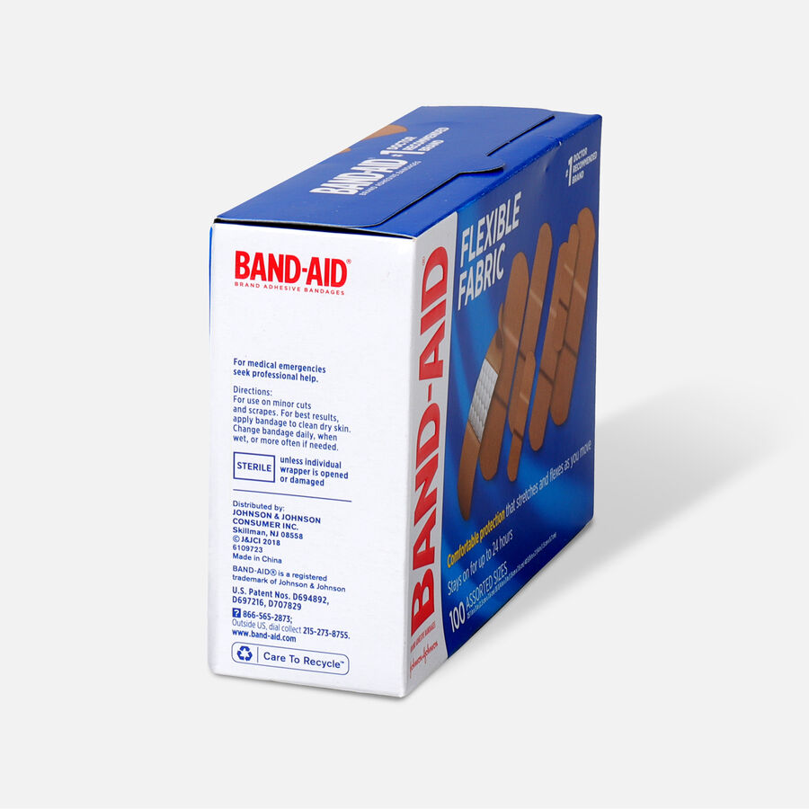Band-Aid Flexible Fabric Adhesive Bandages, Assorted Sizes, , large image number 1