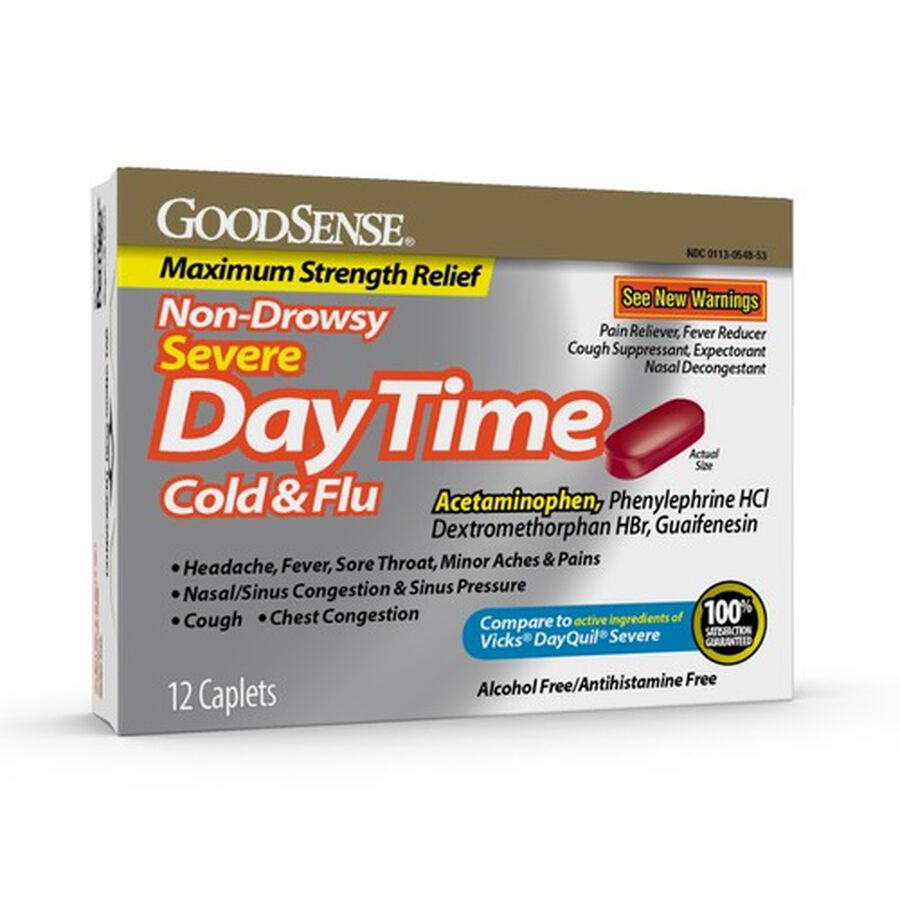 GoodSense® Daytime Cold & Flu Non Drowsy Severe Softgels, 12 ct, , large image number 0