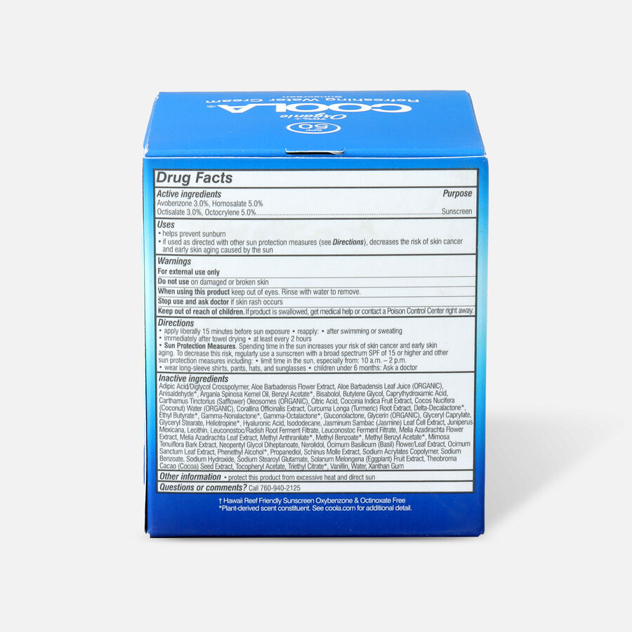 Coola Refreshing Water Cream Sunscreen SPF 50, 1.5oz, , large image number 2