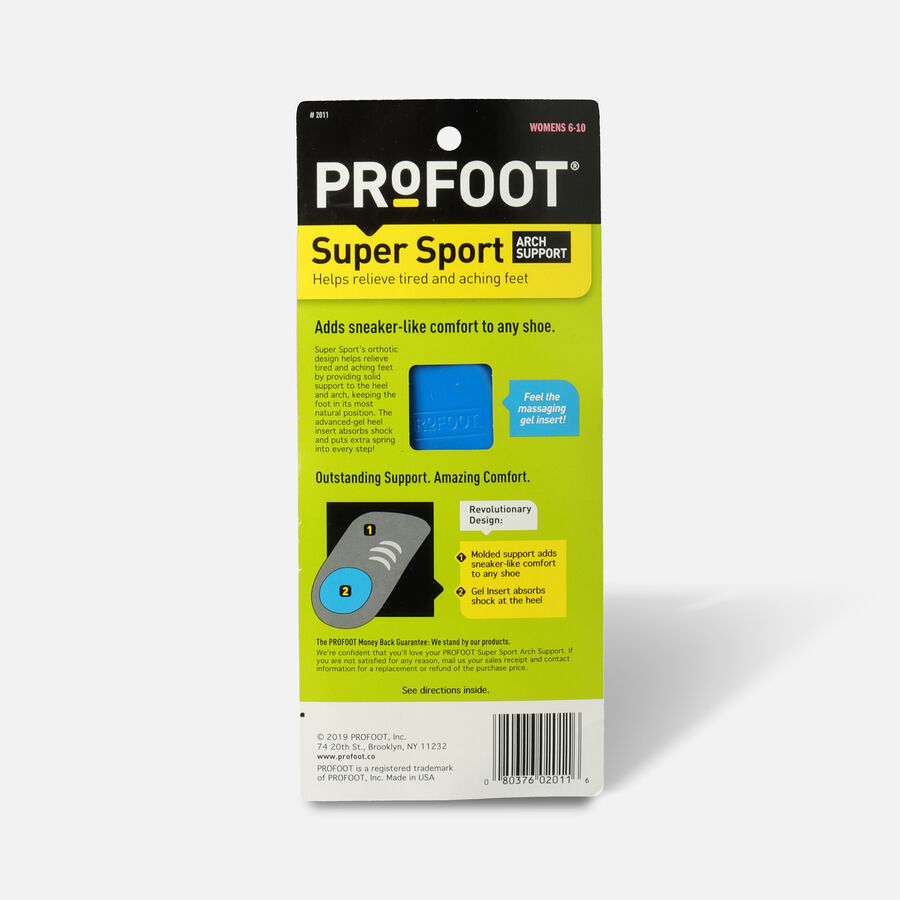 Profoot Care Super Sport Arch Support, Women's, 2 ea, , large image number 1