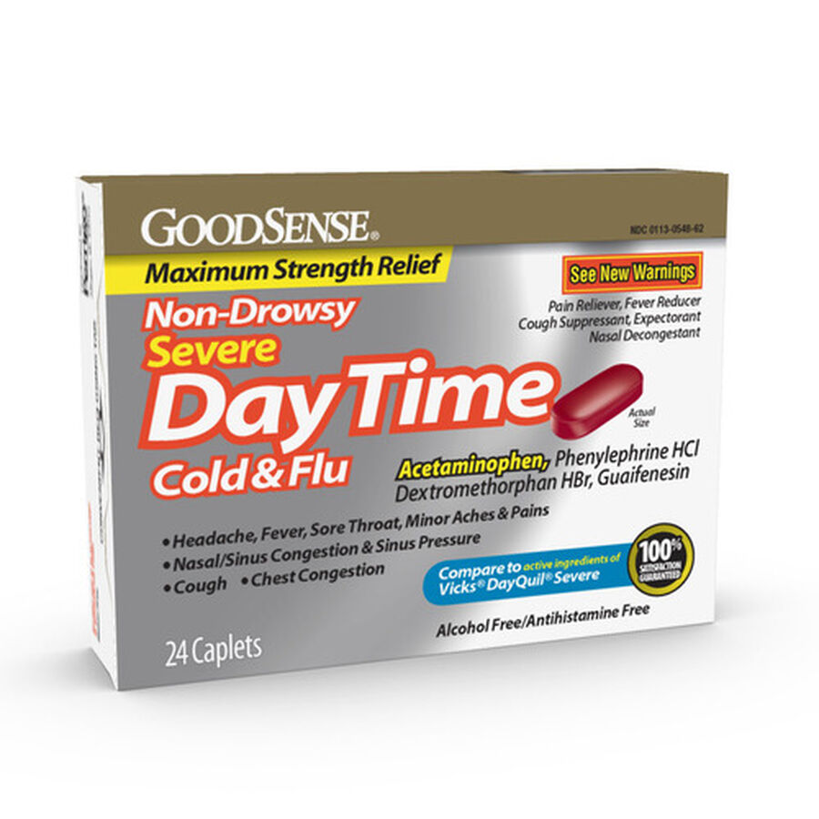 Goodsense®  Daytime Cold & Flu Non Drowsy Severe Caplets 24 Ct, , large image number 0