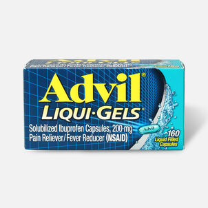 Advil Pain Reliever Fever Reducer Liquid Gels, 160 ct