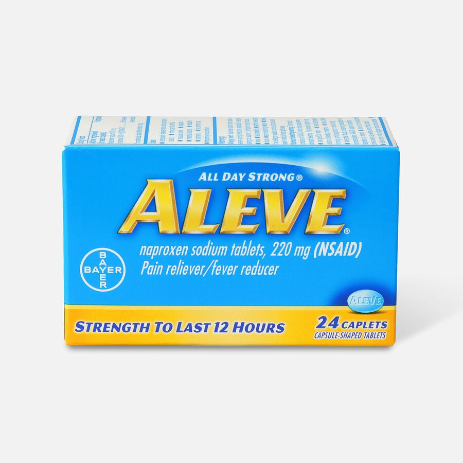 Aleve All Day Strong Pain Reliever, Fever Reducer, Caplet, 24 ea, , large image number 0