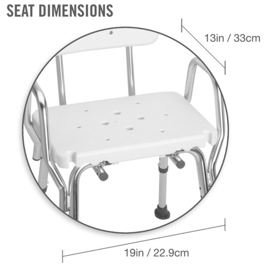 DMI® Heavy Duty Bath and Shower Chair, , large image number 3
