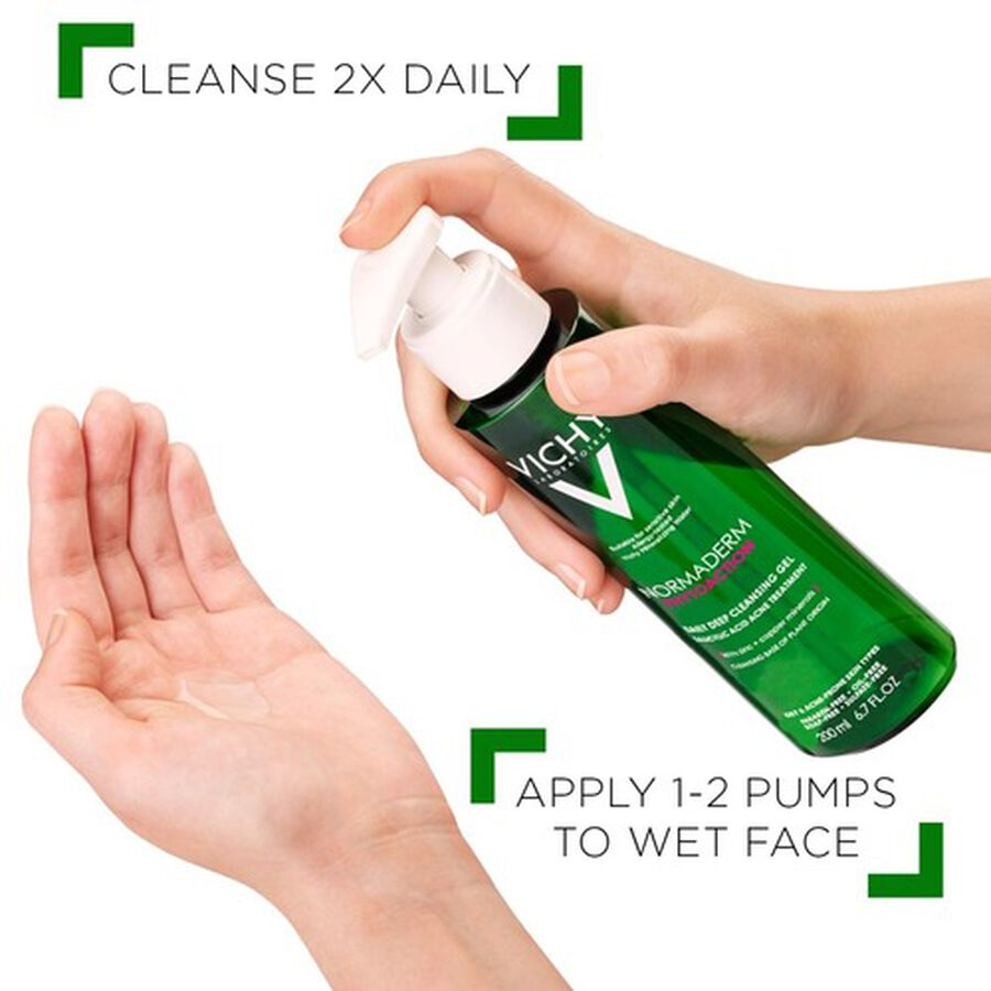 Vichy Normaderm PhytoAction Daily Deep Cleansing Gel with Salicylic Acid, 6.7oz, , large image number 6