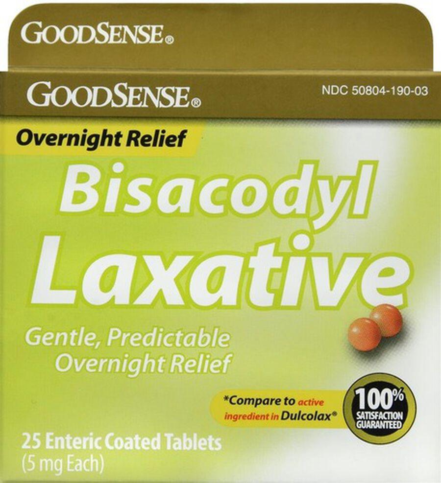 GoodSense® Bisacodyl 5 MG Laxative Enteric Coated Tablets, 25 ct, , large image number 0