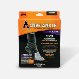 Active Ankle 329 Compression Ankle Sleeve, Black