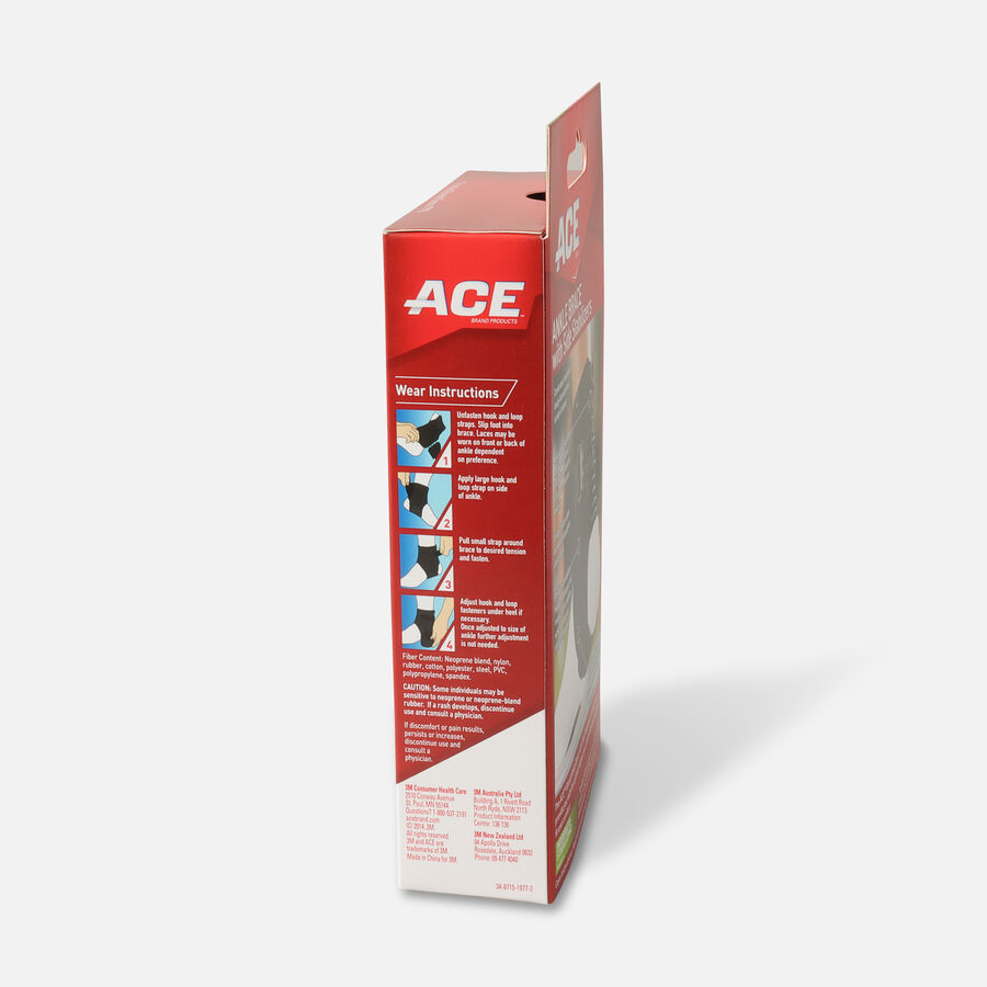Ace Ankle Brace with Side Stabilizers, One Size, , large image number 3