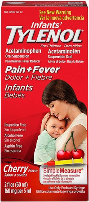Infants' Tylenol Acetaminophen Liquid Medicine, Cherry, 2 fl. oz