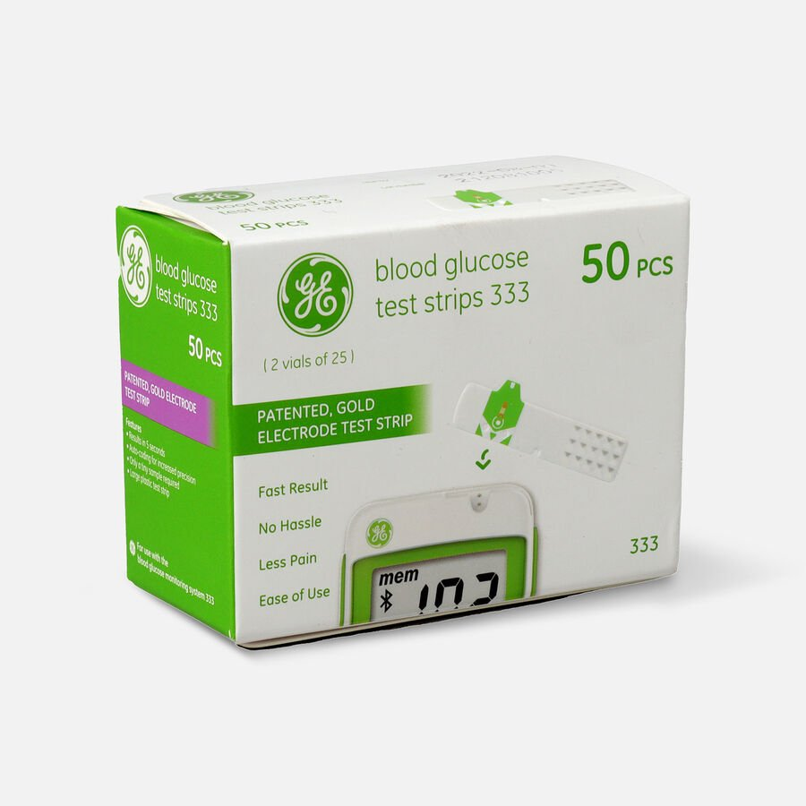 GE333 Blood Glucose Test Strips, 50 CT, , large image number 2
