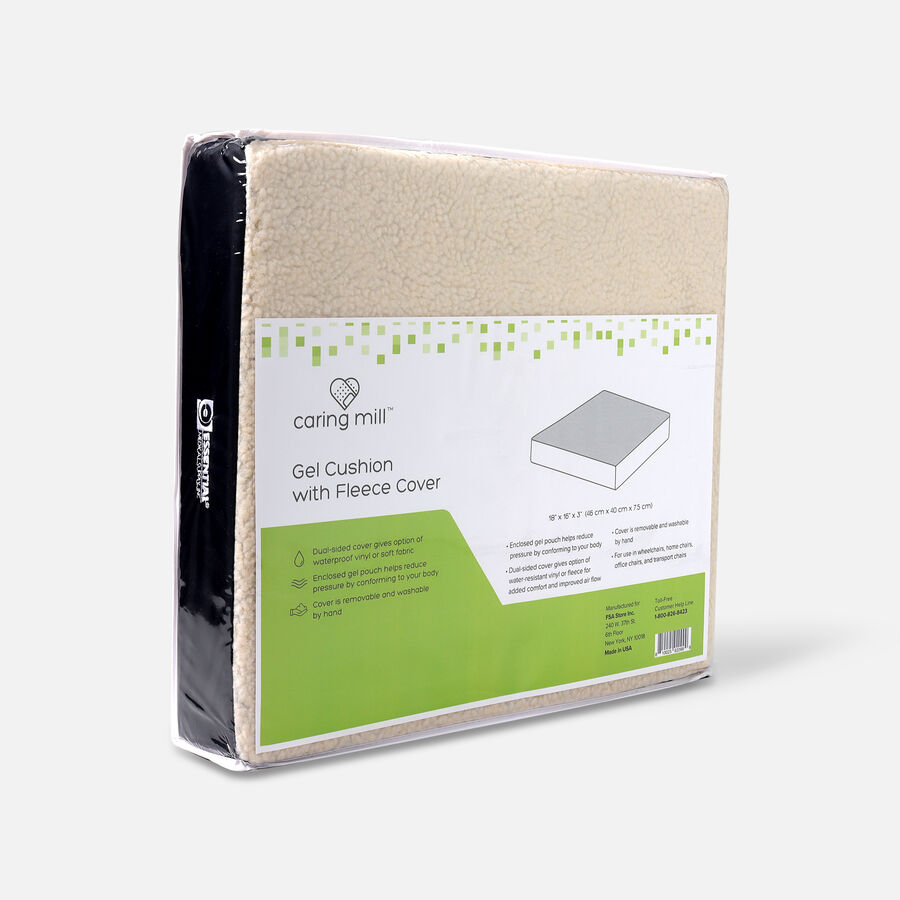 """Caring Mill™ Gel Cushion with Fleece Cover – 18"""" x 16"""" x 3"""", , large image number 4"""