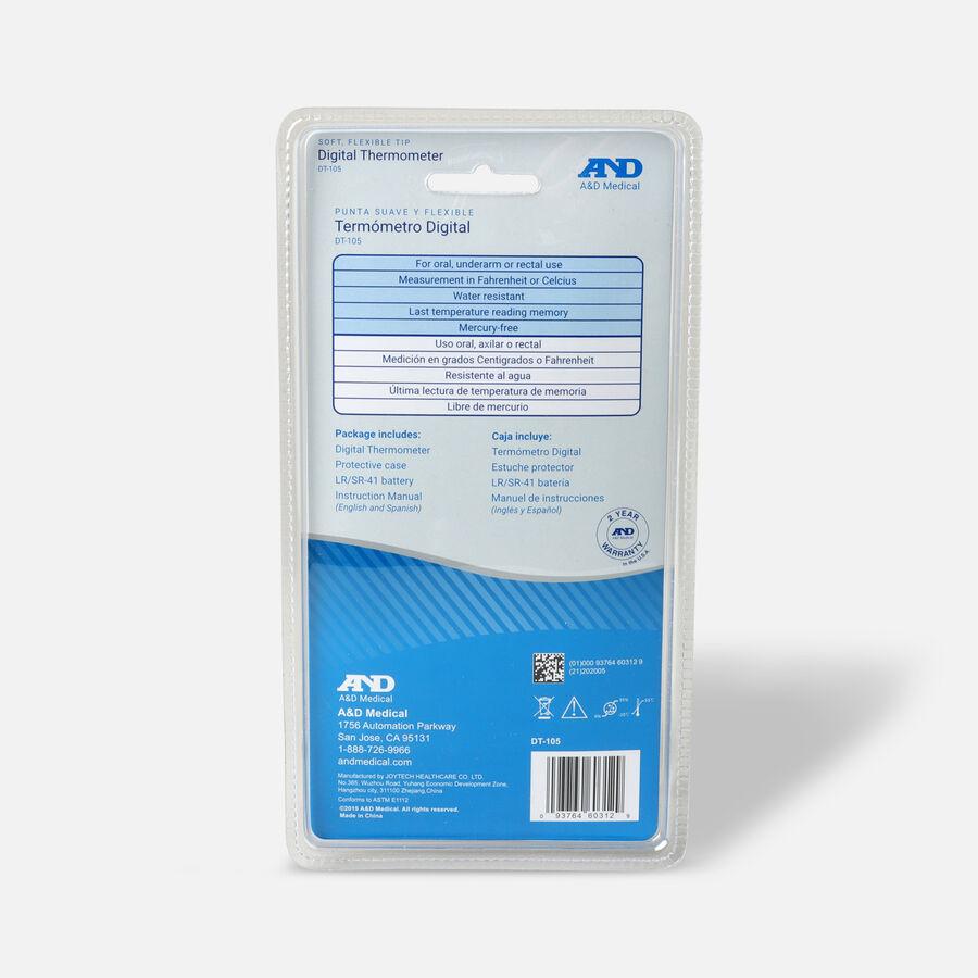 A&D Medical Flex Tip 10 Second Digital Thermometer, 1 ea, , large image number 1