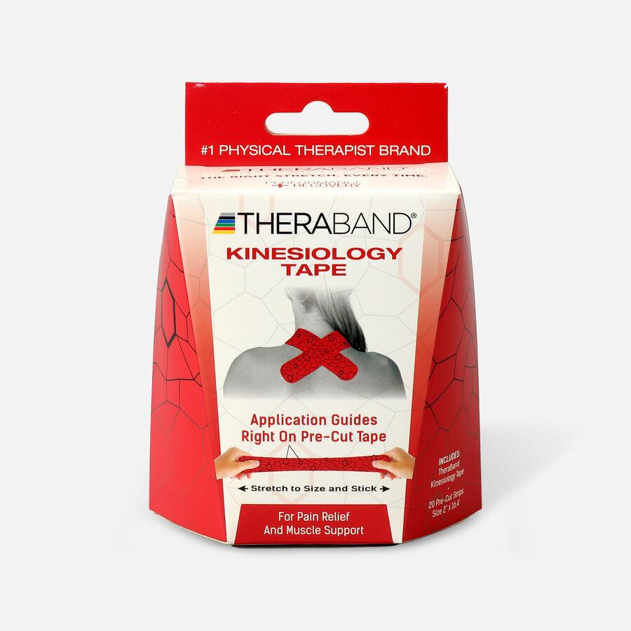 Theraband® Kinesiology Tape Precut Roll Red/Black, 20 ct, , large image number 0