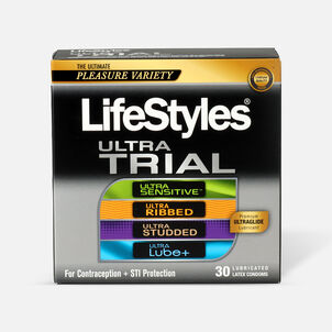 LifeStyles Ultra Latex Condom Trial Pack, 30 Count