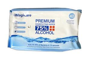 MagiCare Premium Disinfecting Wipes, 75% Alcohol  (Pack of 40)