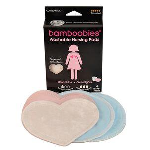 Bamboobies Washable Bamboo Rayon Nursing Pad, 2 Pack