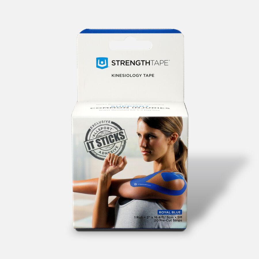 StrengthTape Kinesiology Precut Tape, Royal Blue, 20 ct, Royal Blue, large image number 0